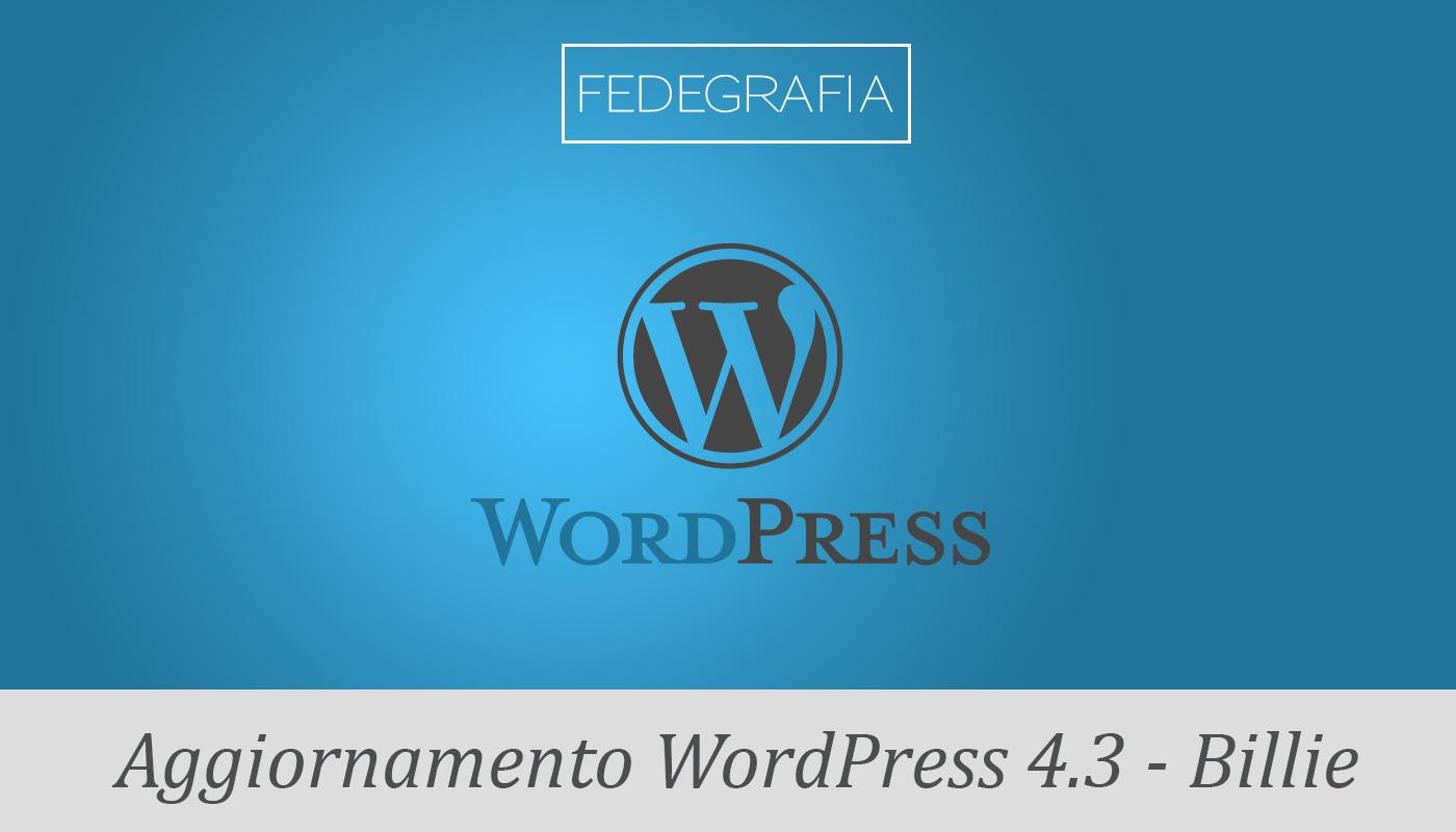 Aggiorna WordPress 4.3