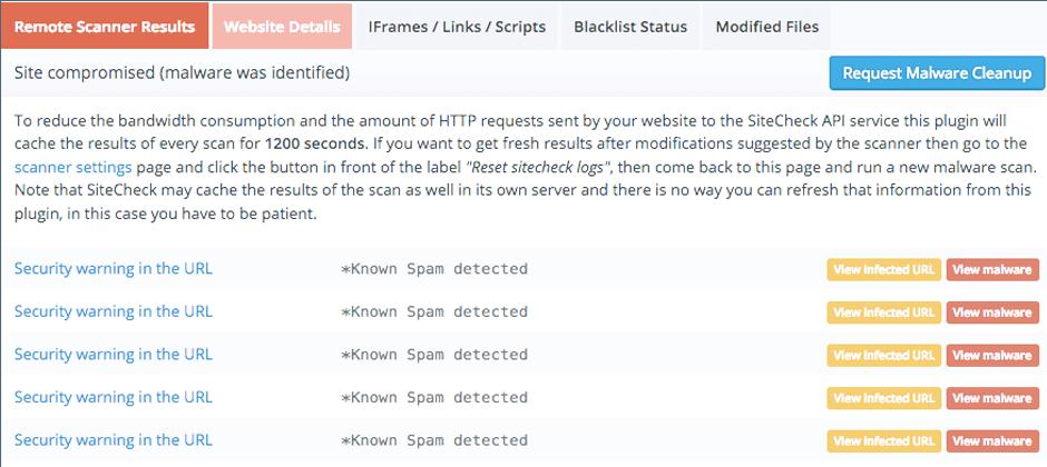 sito compromesso malware
