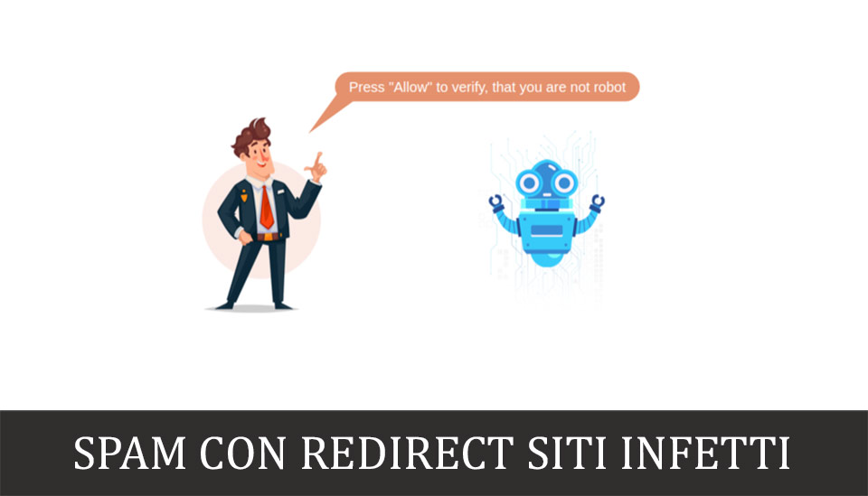 spam redirect siti infetti